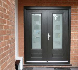 Front door & Ian Fenton Builders